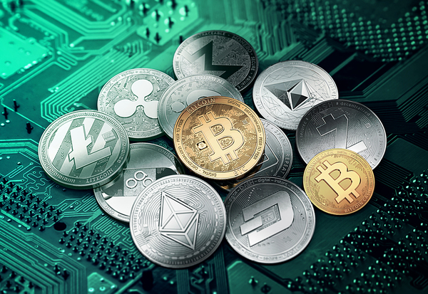 Cryptocurrency tokens.