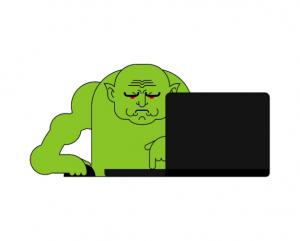 Green grumpy guy.