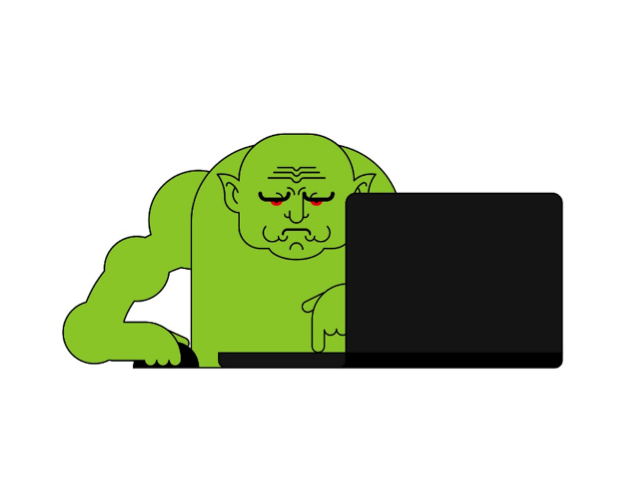 Green grumpy guy.