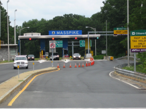 Masspike toll booth.