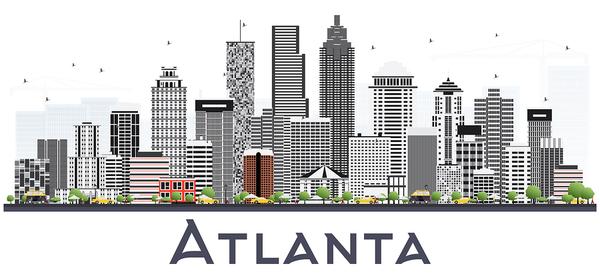 City of Atlanta skyline.
