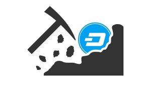 Dash logo with a pickaxe.