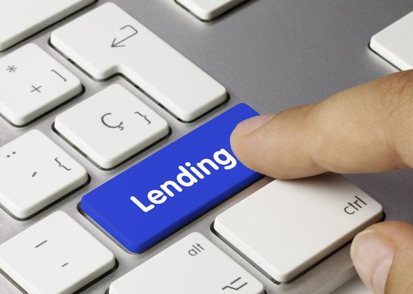 Keyboard key labeled lending.
