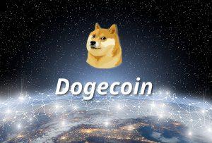 Dogecoin symbol.