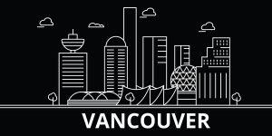 Vancouver city skyline.