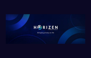 Horizen logo and tagline.