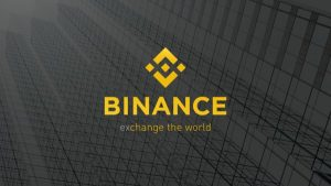 Binance chain logo and tag line.
