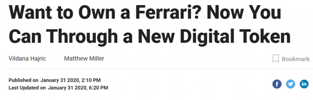 Ferrari article.