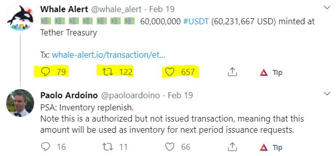 Whale alert twitter post