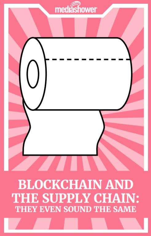 Blockchain supply chain ebook cover.