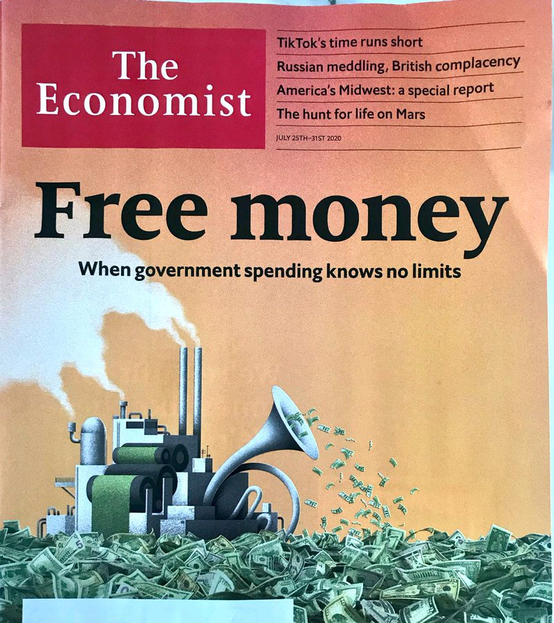 The Economist Free money artilcle.