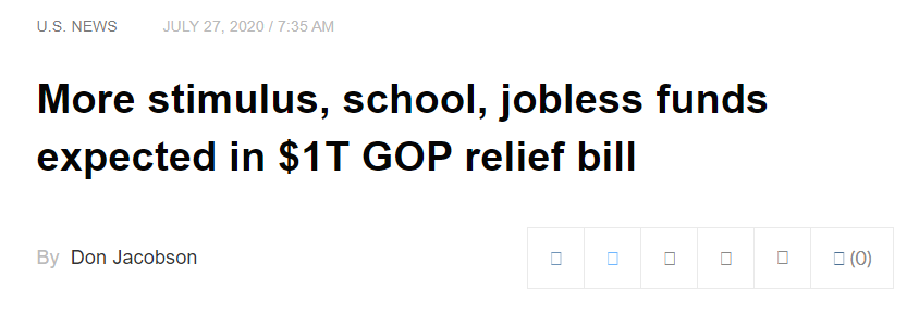 More stimulus GOP relief bill
