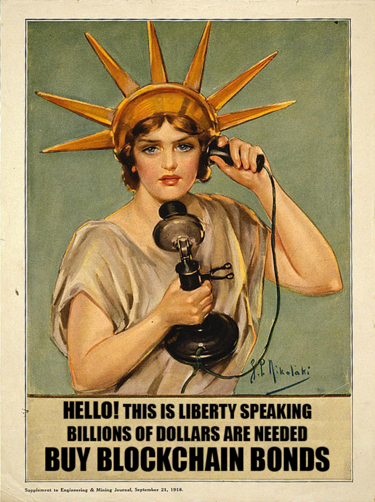 Woman wearing a statue of liberty crown on the phone.