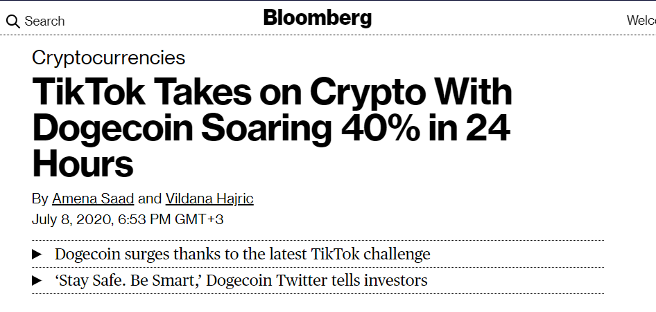 TikTok takes on crypto.