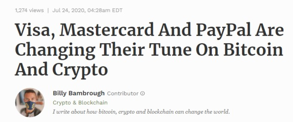 Visa Mastercard article.