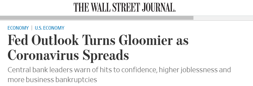 Fed Outlook turns gloomier article.
