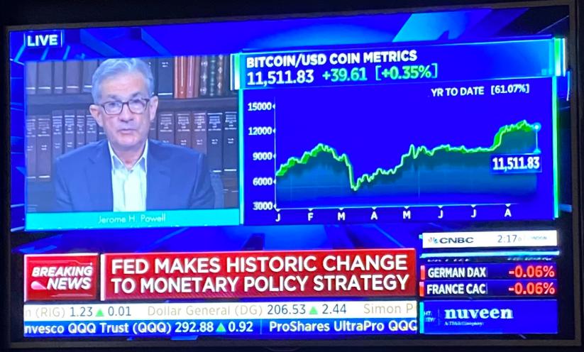 Fed news on tv