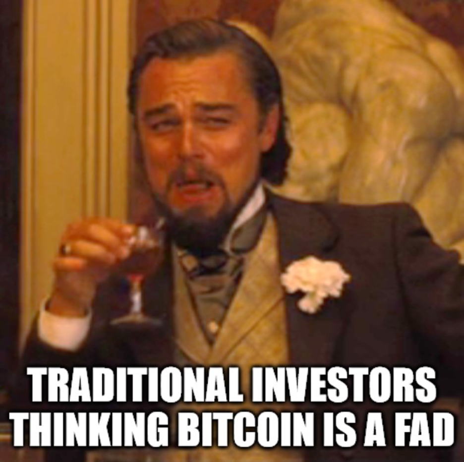 Traditional investors thinking bitcoin is a fad.