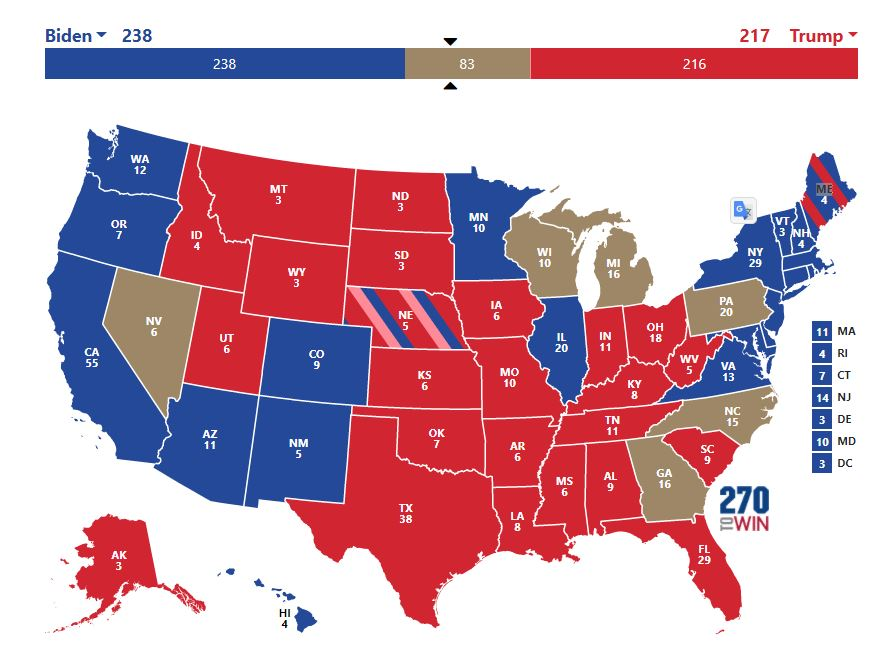 US election results map