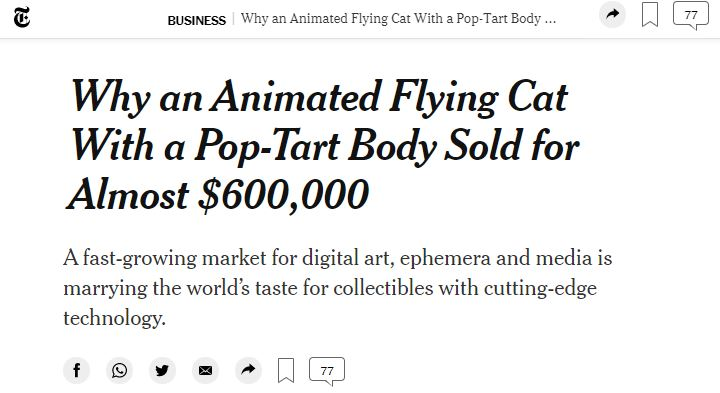 Animated flying cat article