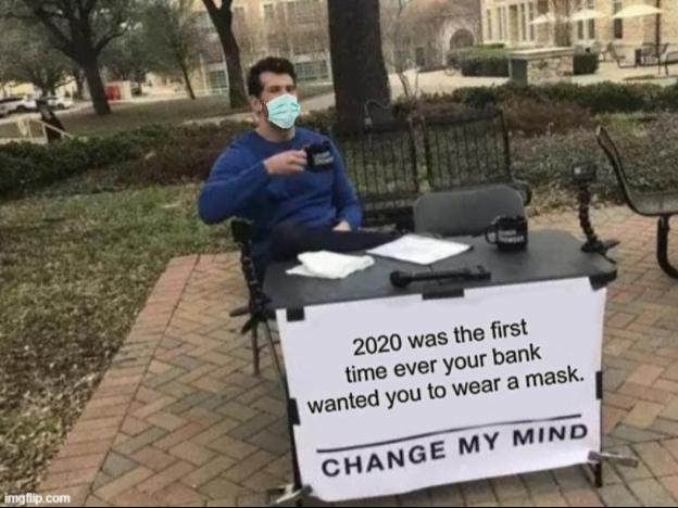 Facial mask meme