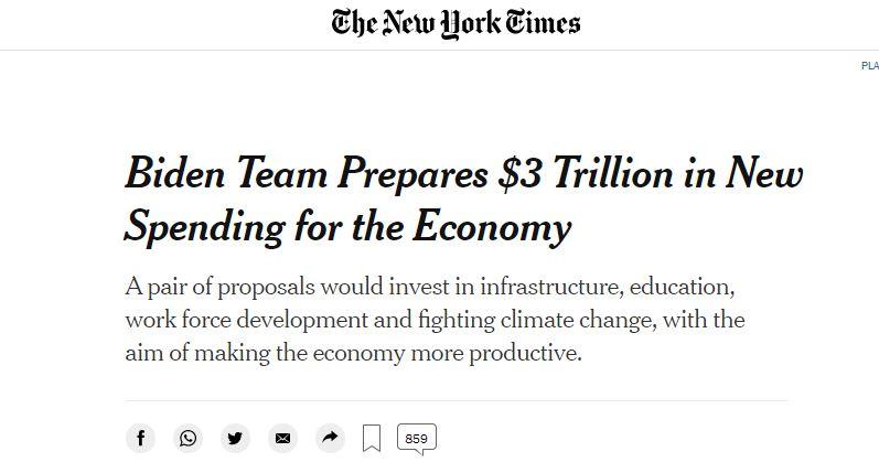 Biden team prepared 3 trillion