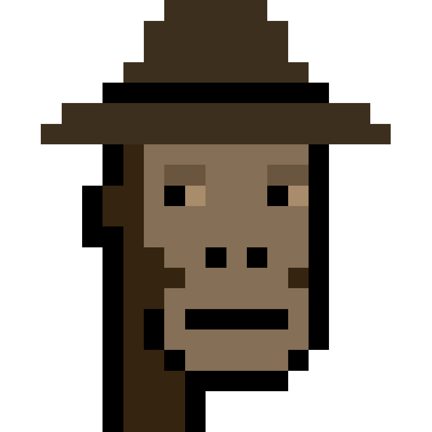 Pixelated ape