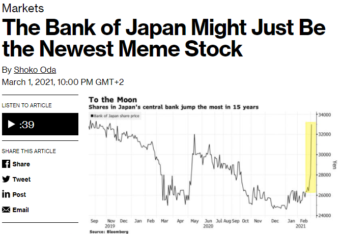 The bank of Japan article