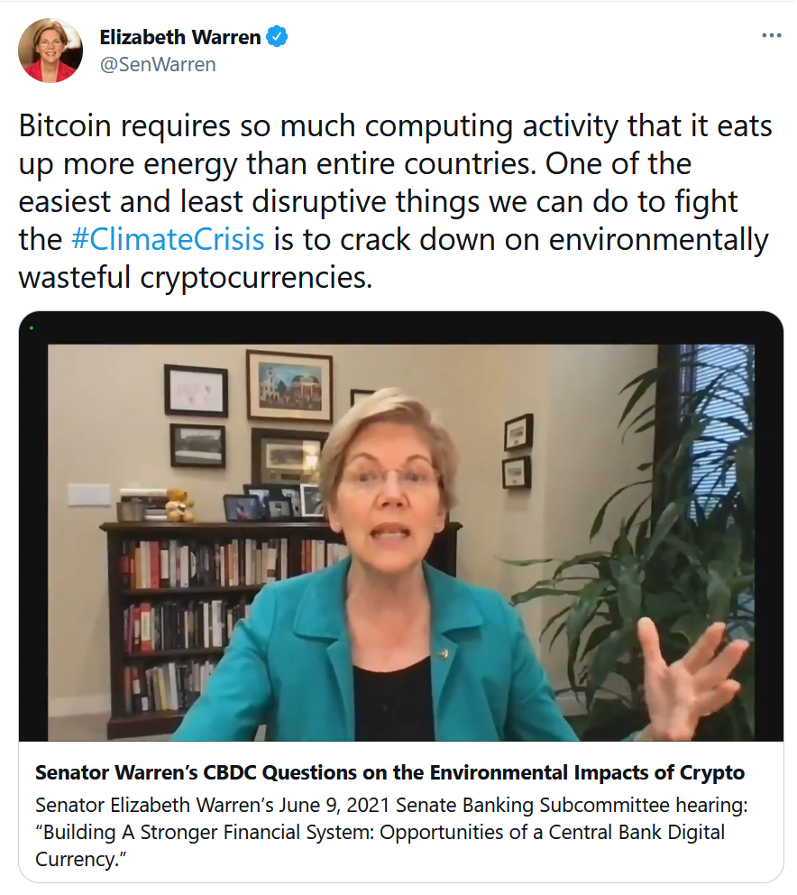 E Warren tweet