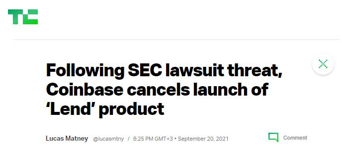 Following SEC article
