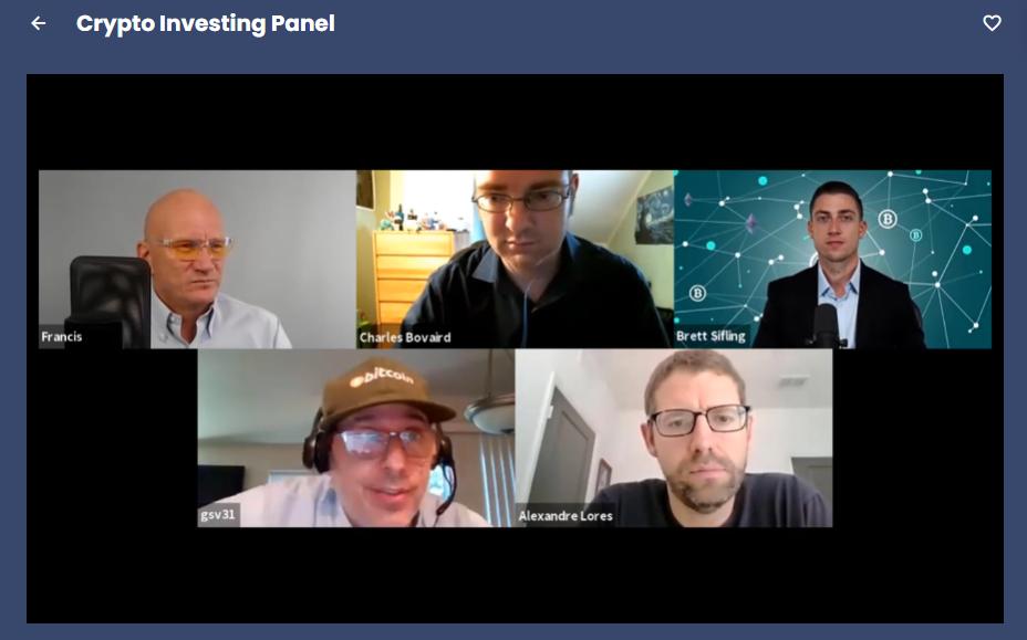 crypto investing panel