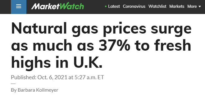 Natural gas prices surge